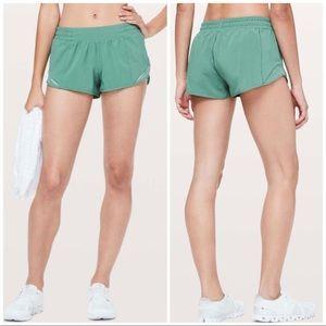 Lululemon NWOT Hotty Hot Shorts Frosted Pine, 8